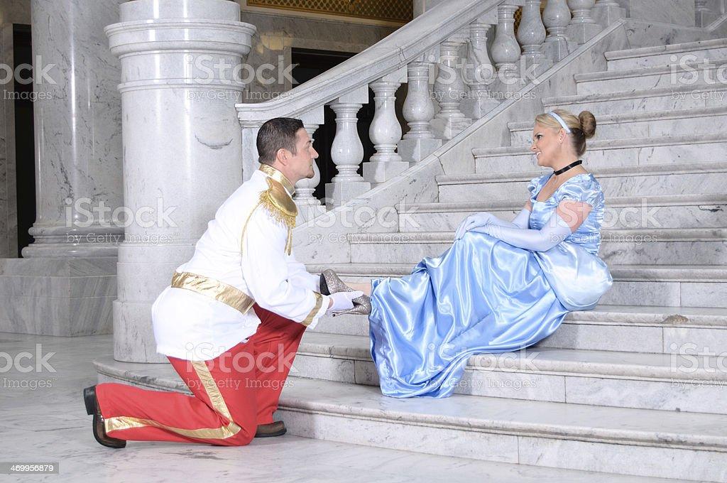 Cinderella and Prince Charming stock photo