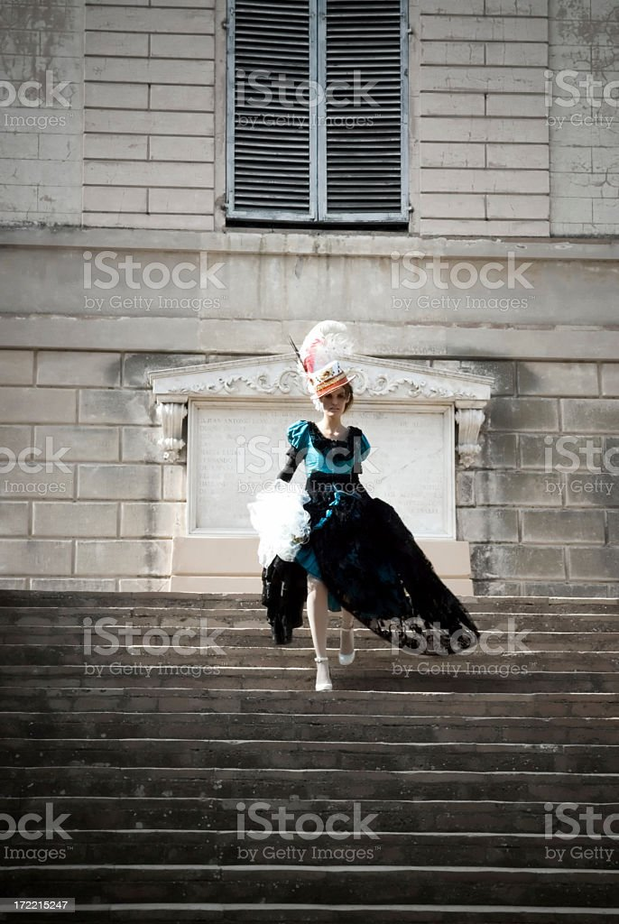 Cinderella on the Stairs IV royalty-free stock photo