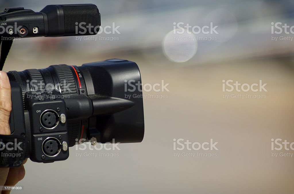 Cine Operator stock photo