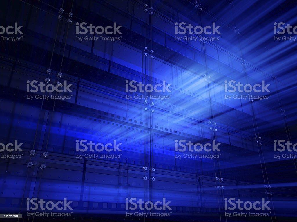 Cinefilm Blue Wall stock photo