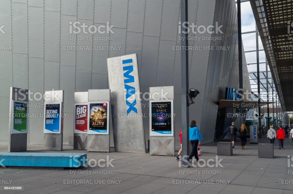 IMAX Cinema at the Melbourne Museum, Australia stock photo