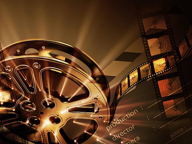 Cinema background (horizontal) stock photo