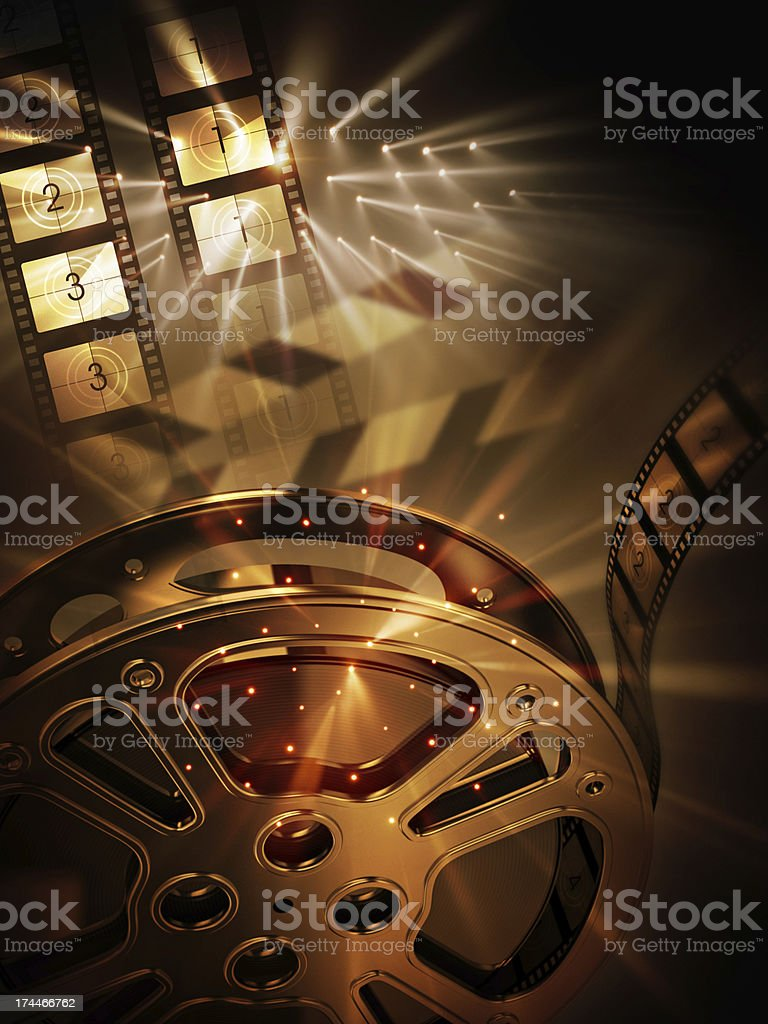 Kino-Hintergrund (vertikal – Foto