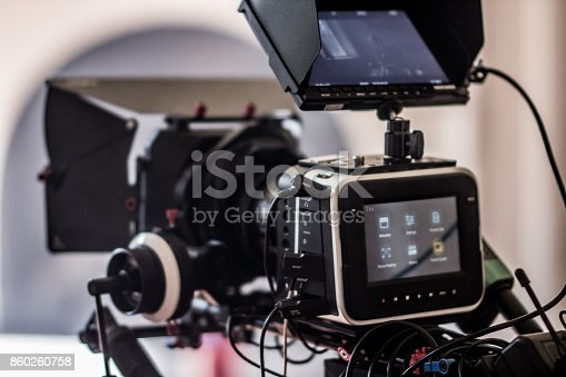 Indie film behind the scenes of a Blackmagic Production Camera.