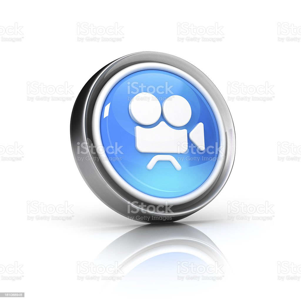 cinema camera  or video Clip and streaming Icon stock photo