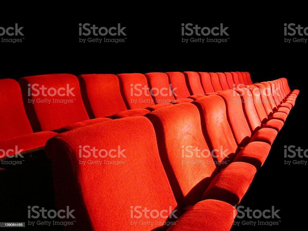 Cinema Chairs royalty-free stock photo