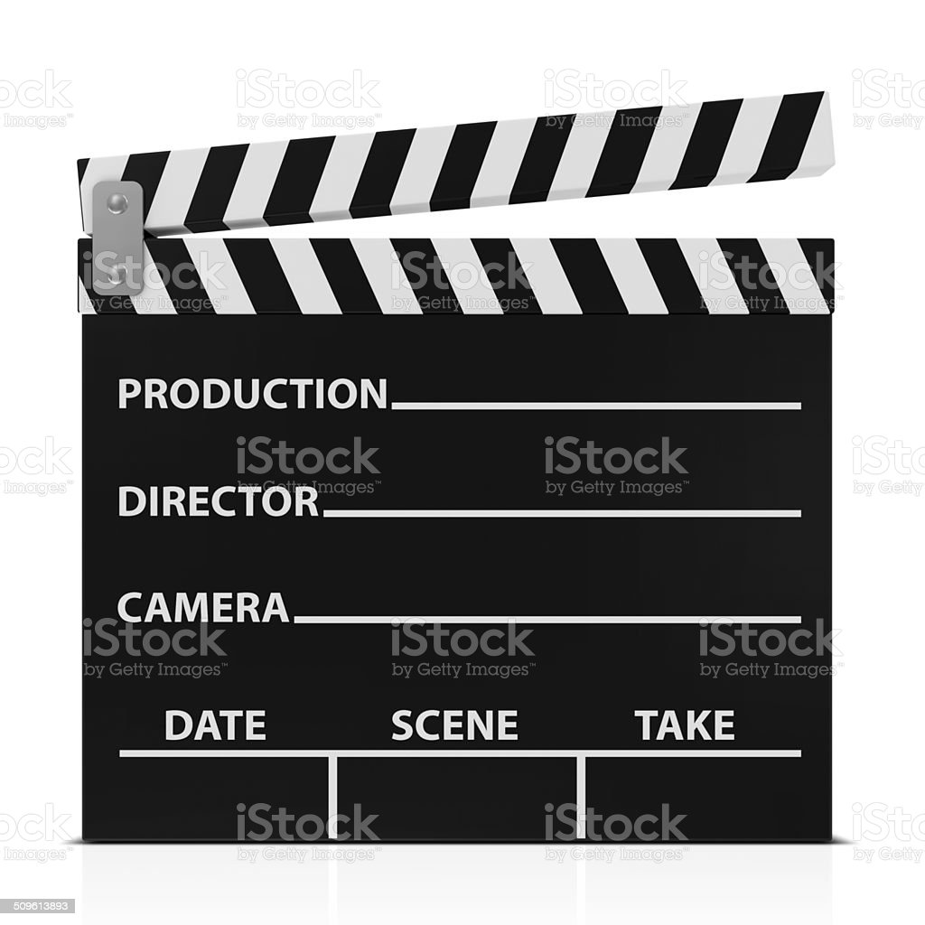 Cinema Clap isolated on white background stock photo