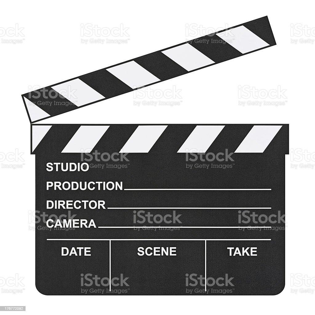 Cinema clapboard royalty-free stock photo
