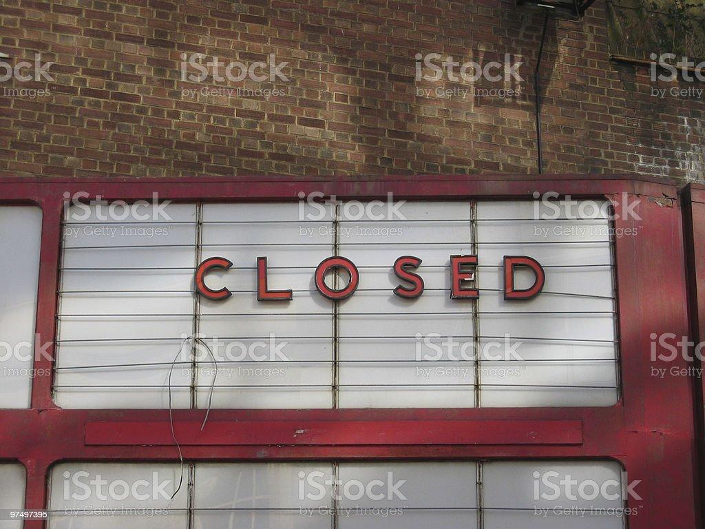 Cinema Closed Sign royalty-free stock photo