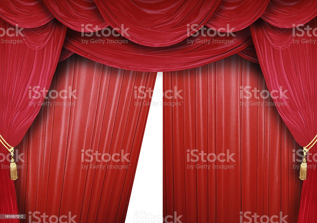 Cinema curtain royalty-free stock photo