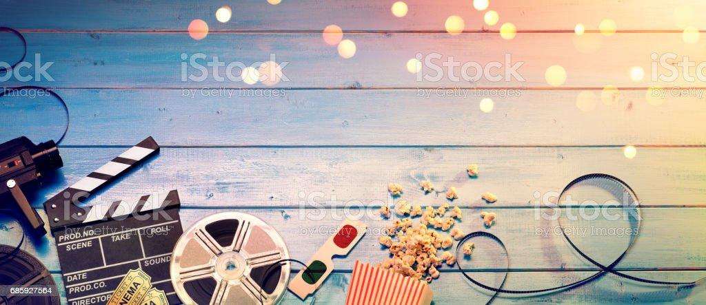 Cinema Film Background Lizenzfreies stock-foto