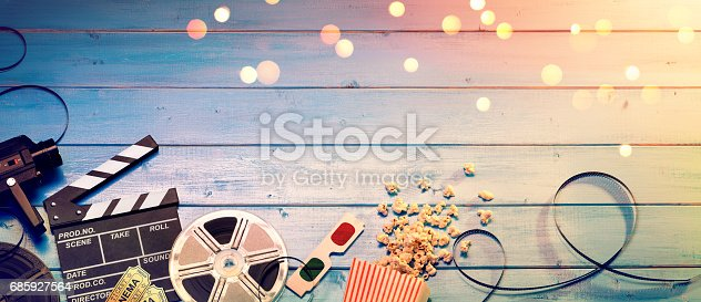 istock Cinema Film Background 685927564