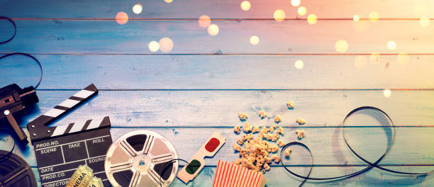 Cinema Film Background stock photo