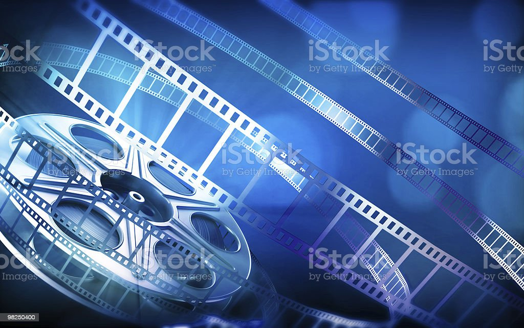 Cinema Bobina di pellicola foto stock royalty-free