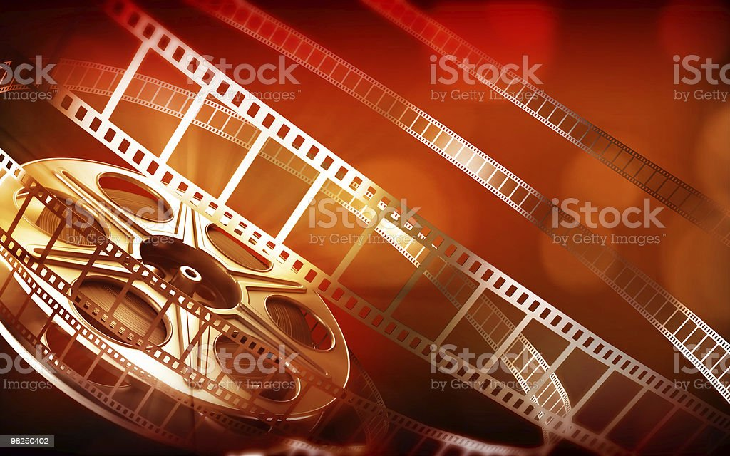 Cinema film reel royalty-free stock photo