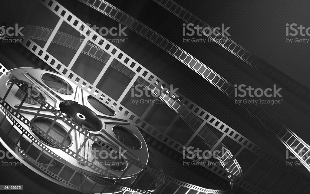 Cinema Bobina di pellicola foto stock royalty-free