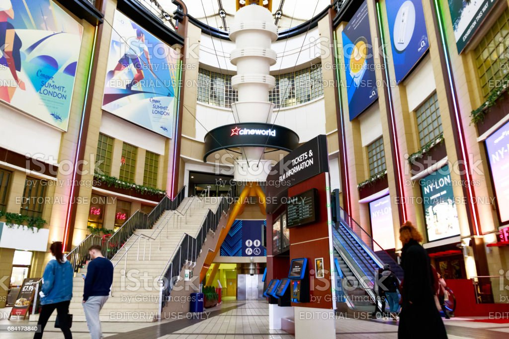 Cinema Hall in The O2 with the entrance to Cineworold