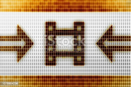 istock Cinema icon on the screen. 1078904256