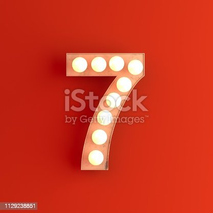 cinema movie theatre illuminated number 7