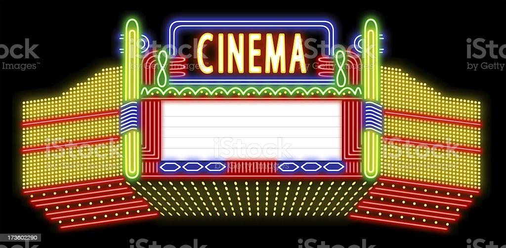 Cinema neon sign royalty-free stock photo
