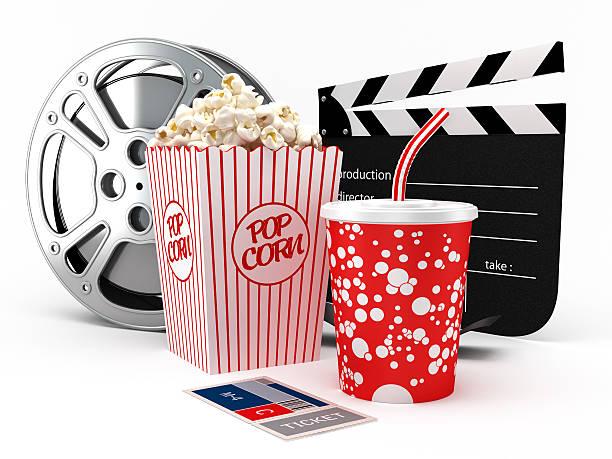 oggetti di cinema - biglietto del cinema foto e immagini stock