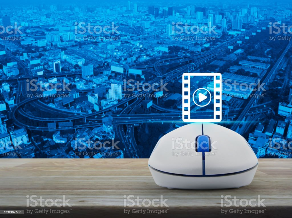 Cinema online concept stock photo