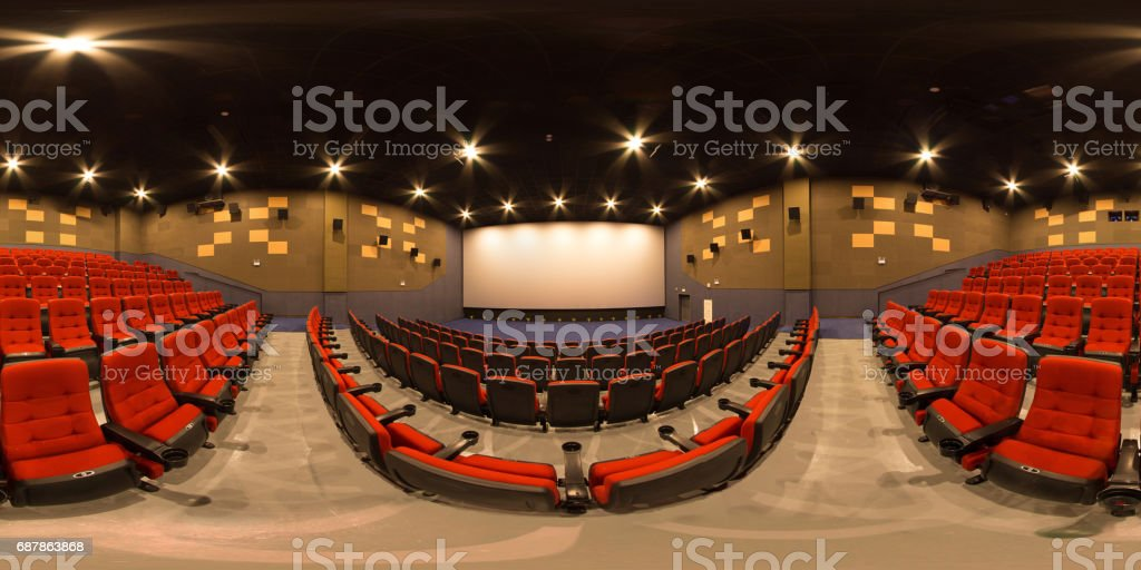 cinema panorama stock photo