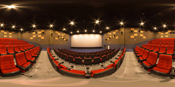cinema panorama full sphere seamless cinema panorama 360 degree view stock pictures, royalty-free photos & images