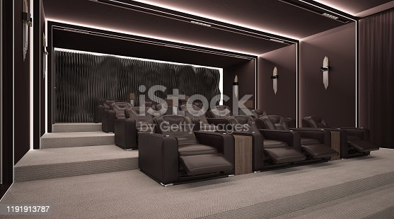 Cinema Room with Comfortable Seats
