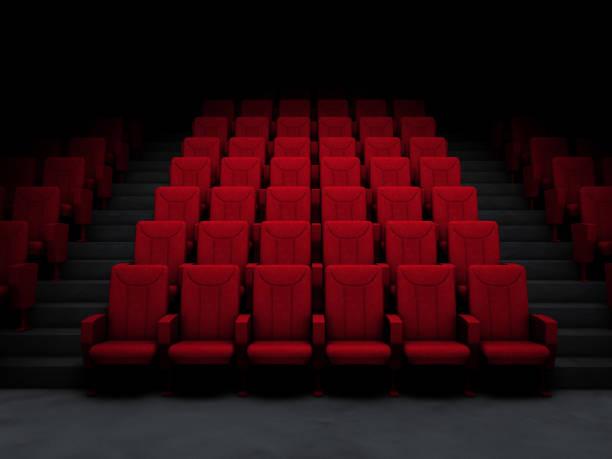 Kino-Salon und rote Sitze – Foto