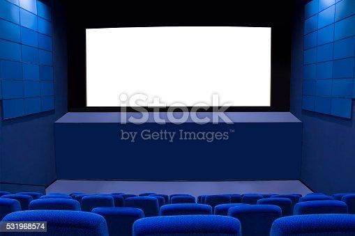 istock Cinema screen. The interior of the cinema. 531968574