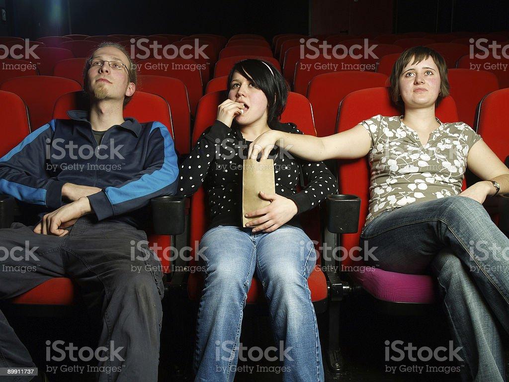 Cinema Series - Everybody's Eating Popcorn royalty-free stock photo