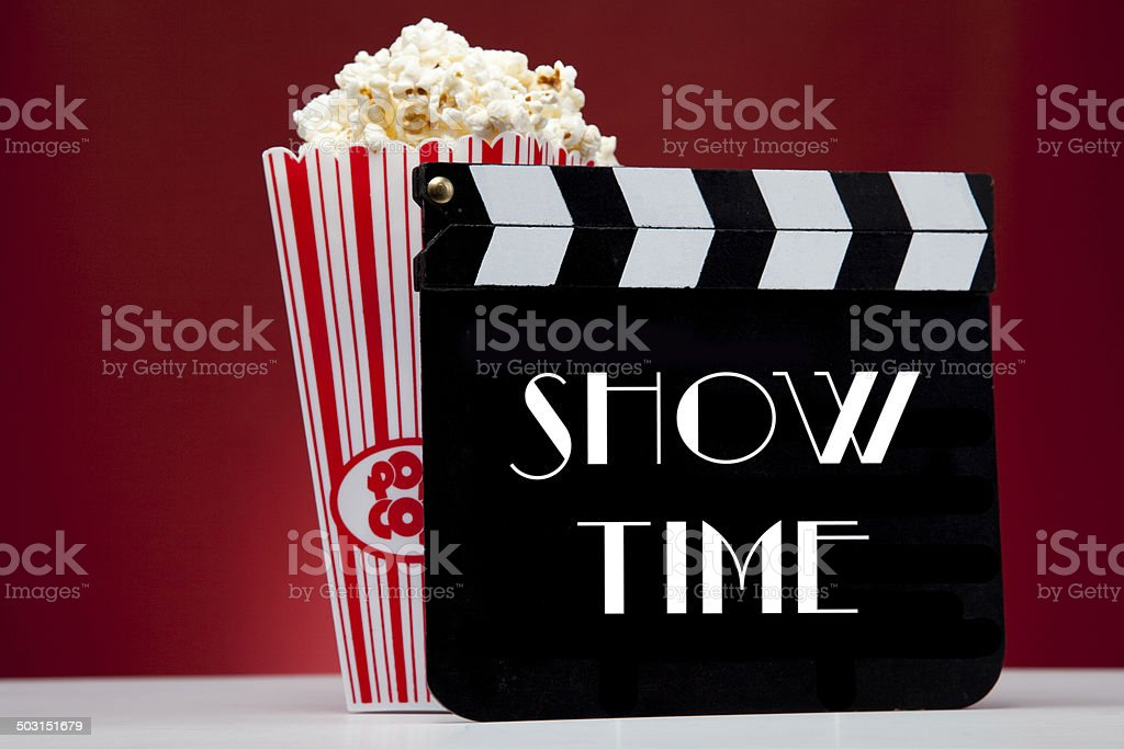 Cinema show time stock photo