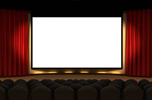 cinema stage - projection screen stock photos and pictures