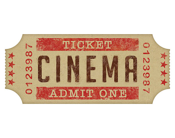 biglietto del cinema - biglietto del cinema foto e immagini stock