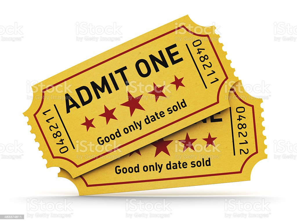 Cinema tickets stock photo