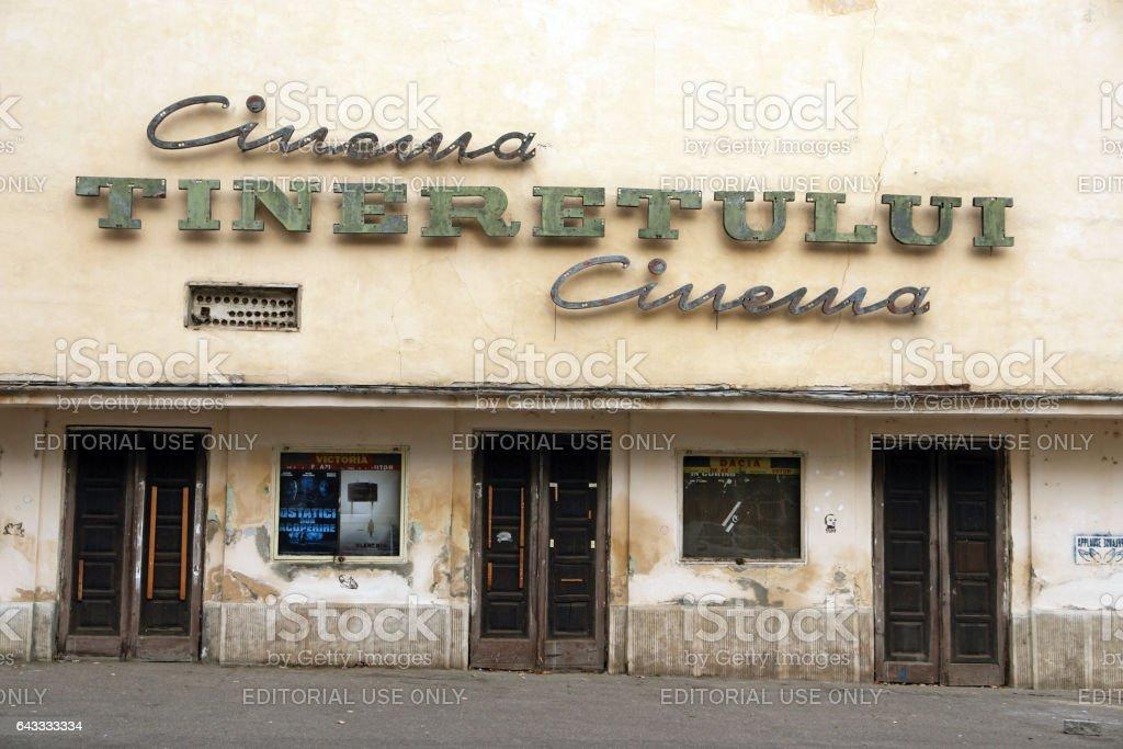 Cinema Tineretului, Iasi, Romania stock photo