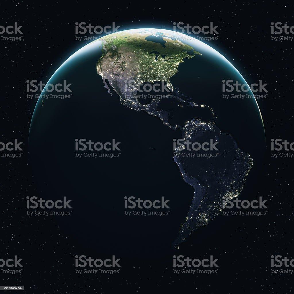 Cinematográfica terra vista de espaço no dia - foto de acervo