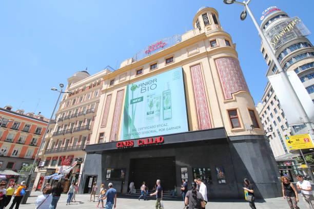 Cines Callao movie theatre Madrid Spain stock photo