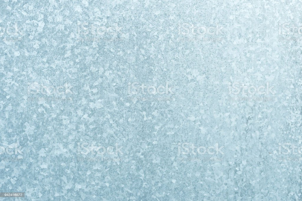 Cink Steel metal texture background in grey blue colors stock photo