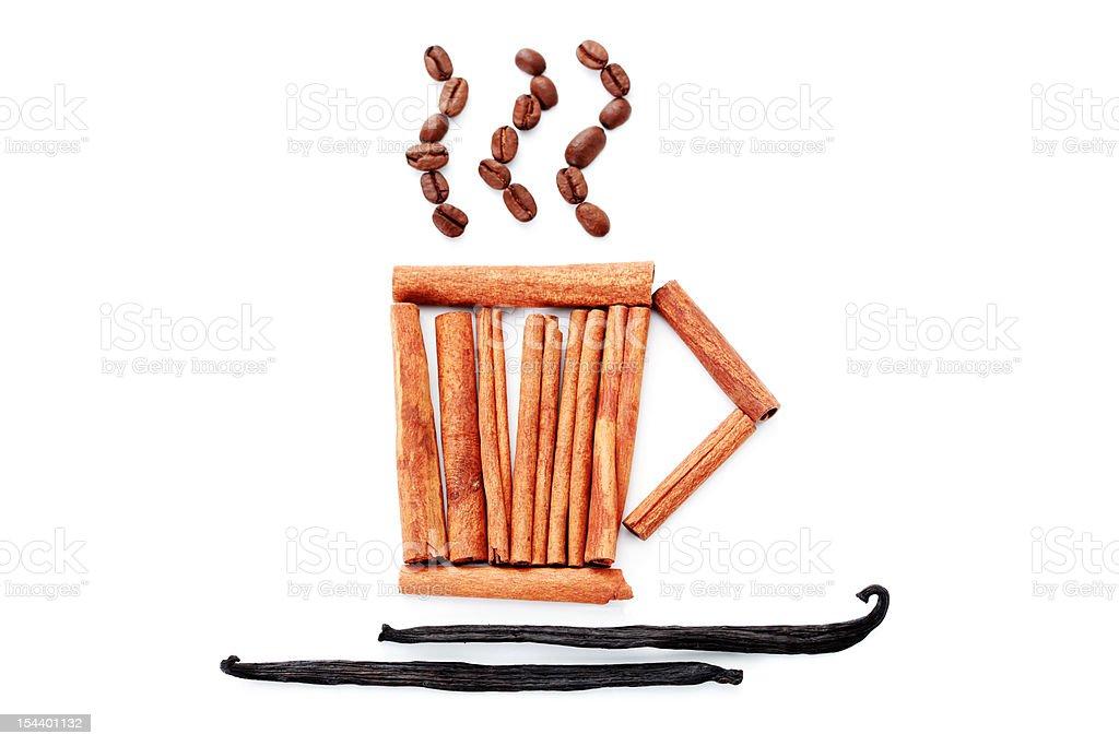 cinnamo coffee royalty-free stock photo