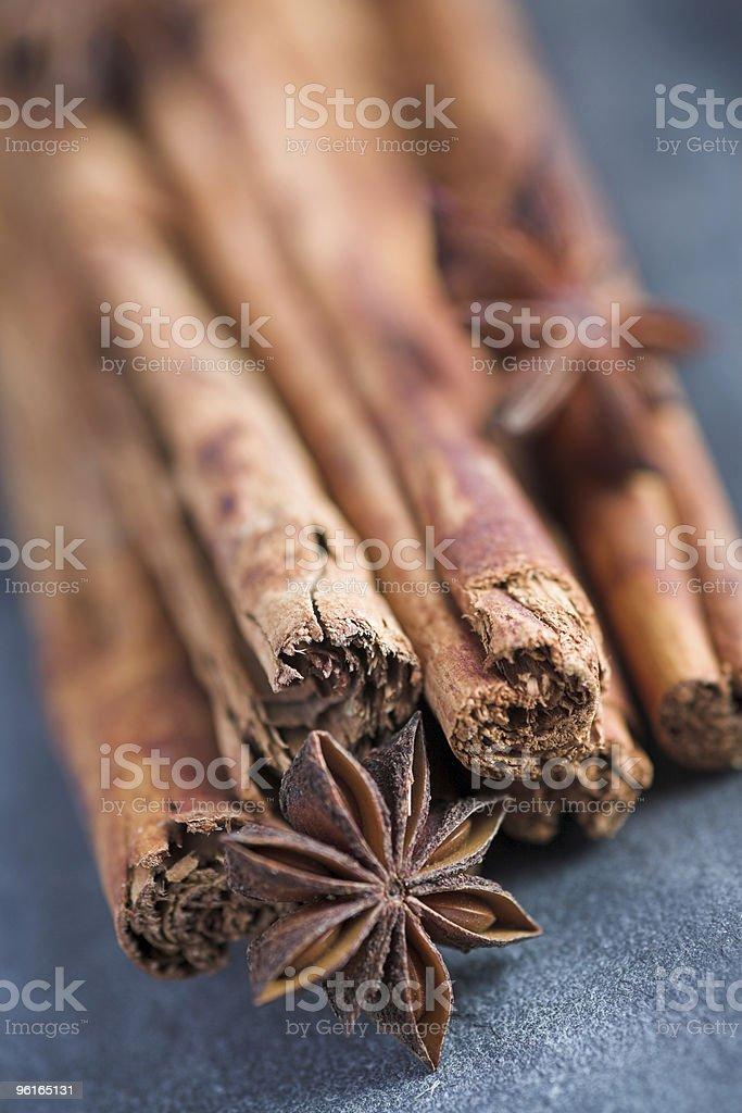 Cinnamon & star anise royalty-free stock photo