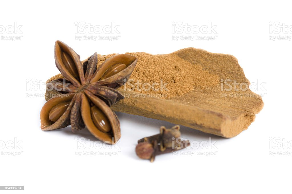 cinnamon, anise and cloves royalty-free stock photo