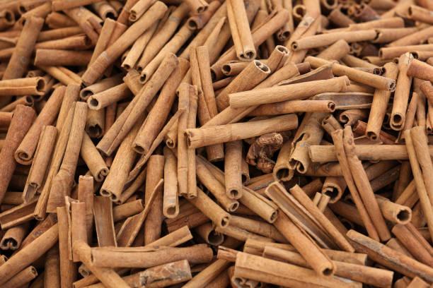 Cinnamon background stock photo