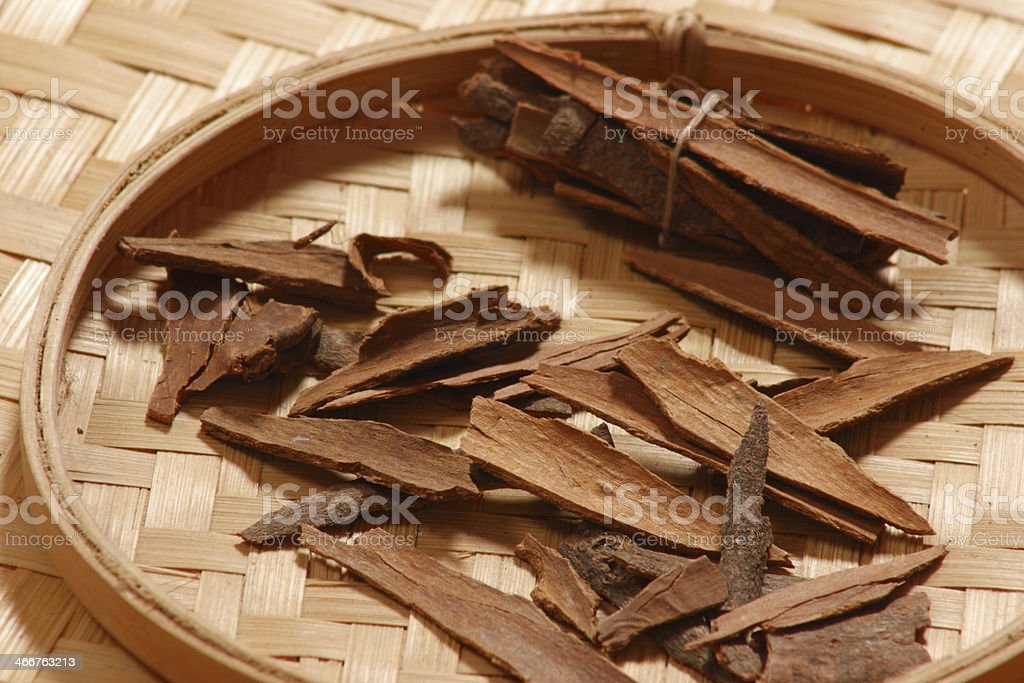 Cinnamon bark is widely used as a spice. royalty-free stock photo