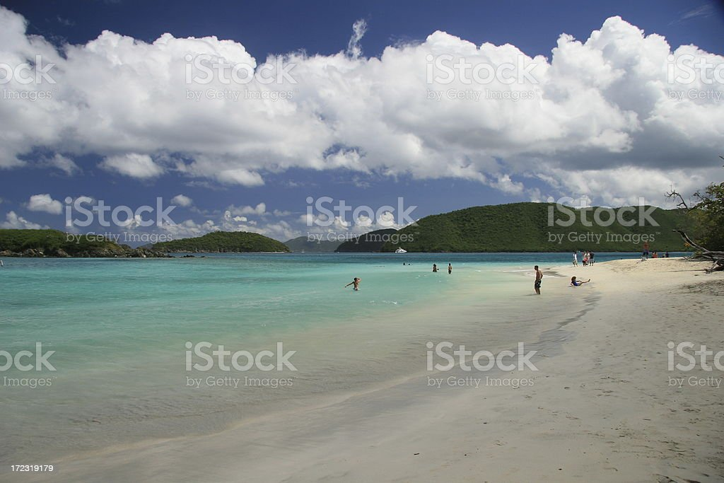 Cinnamon Bay on St. John royalty-free stock photo