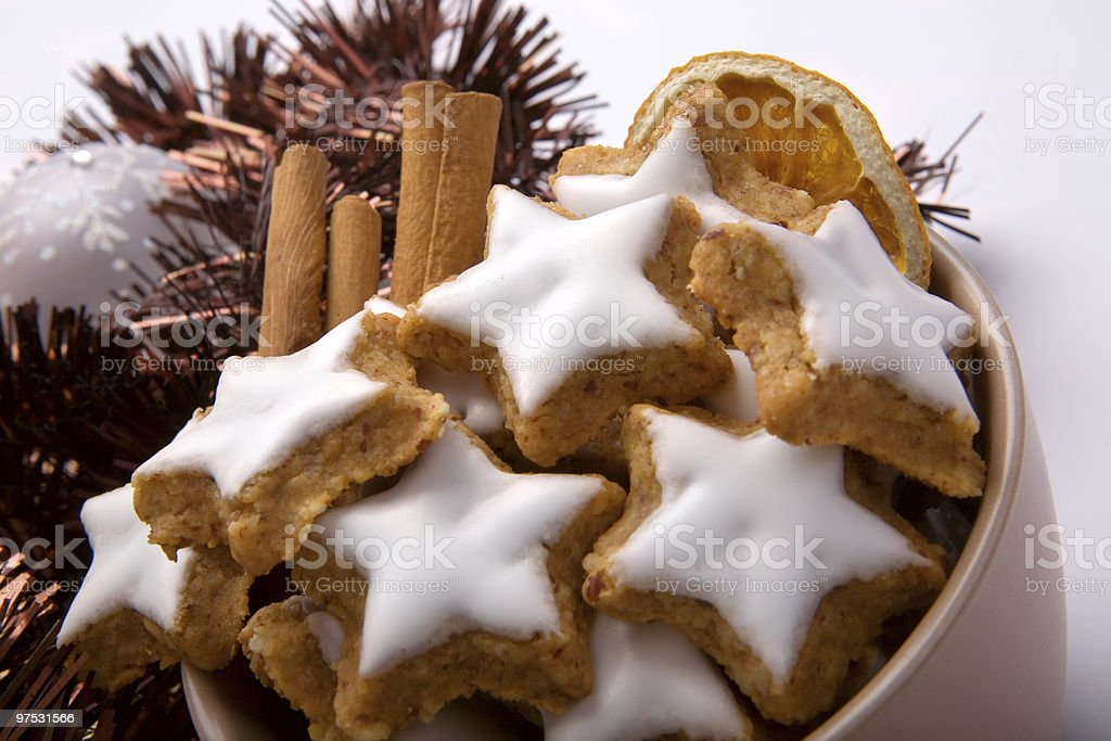 Cinnamon biscuits royalty-free stock photo