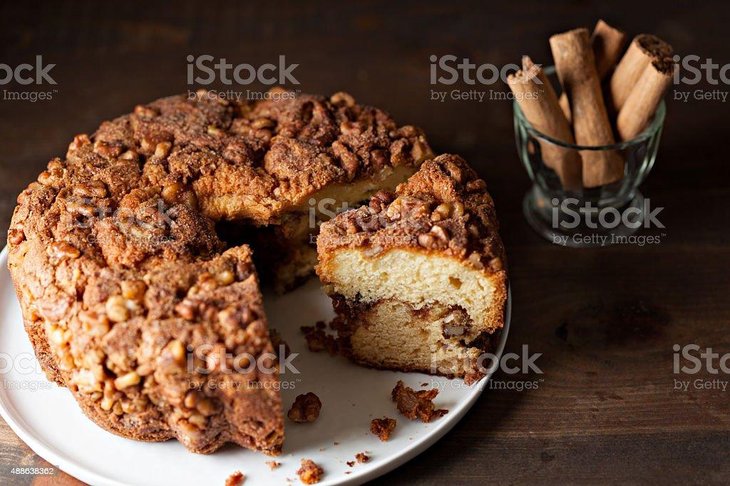 Cinnamon Coffee Cake stock photo