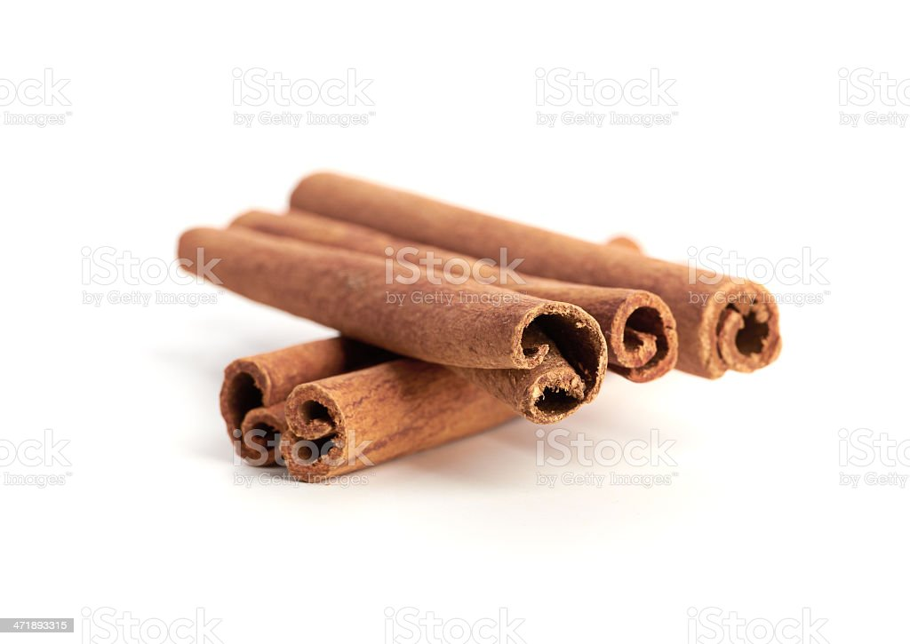 cinnamon isolated on white background royalty-free stock photo