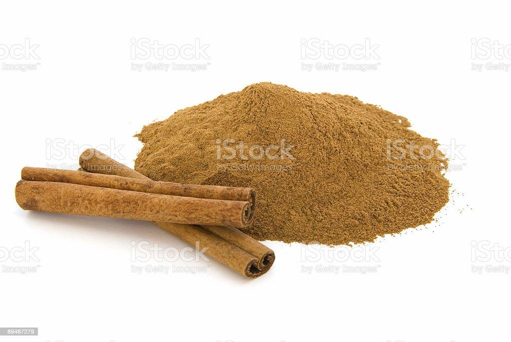 Cinnamon on white royalty-free stock photo
